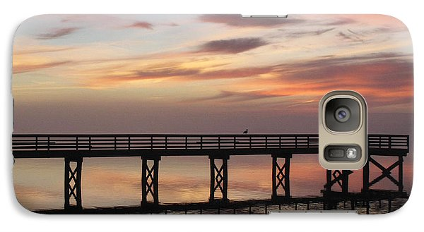 Galaxy Case featuring the photograph Marbled Pier by Suzy Piatt