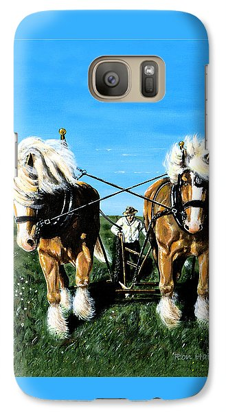 Galaxy Case featuring the painting March Break by Ron Haist