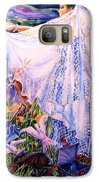 Galaxy Case featuring the painting March Bride With Boxing Hares  by Trudi Doyle
