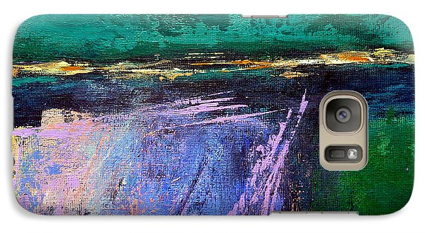 Galaxy Case featuring the painting March Crossing by Jim Whalen