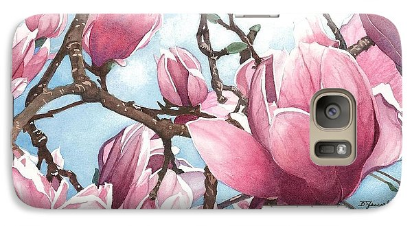 Galaxy Case featuring the painting March Magnolia by Barbara Jewell