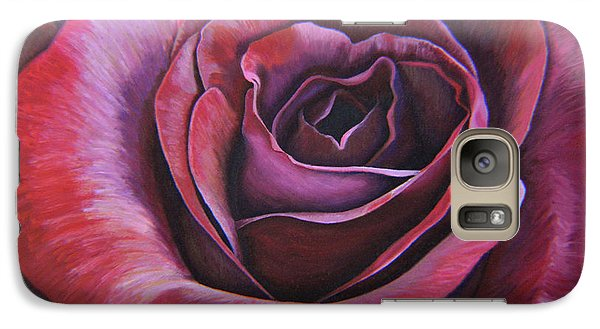 Galaxy Case featuring the painting March Rose by Thu Nguyen