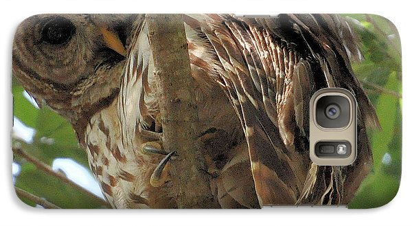 Galaxy Case featuring the photograph Marcus' Backyard Hooter by AnnaJo Vahle