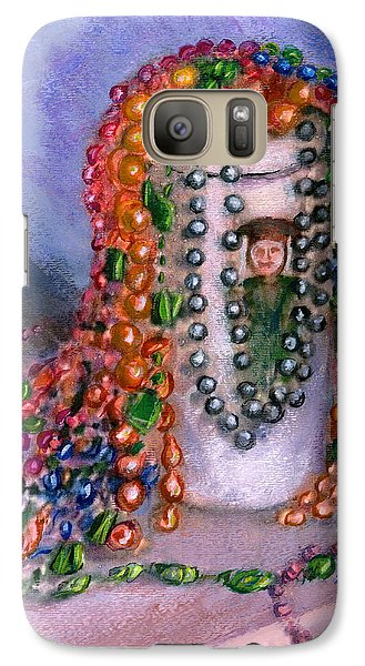 Galaxy Case featuring the painting Mardi Gras Beads In Louisiana by Lenora  De Lude