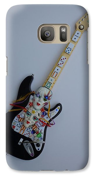 Galaxy Case featuring the sculpture Mardi Gras Guitar by Douglas Fromm