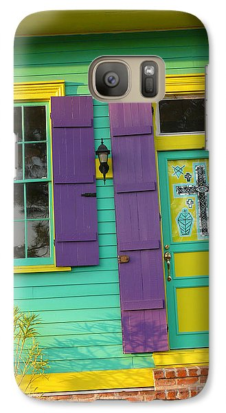 Galaxy Case featuring the photograph Mardi Gras House by Jeanne  Woods