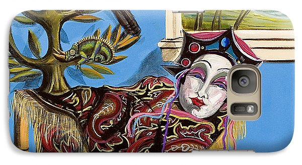 Galaxy Case featuring the painting Mardi Gras In The Living Room by Susan Culver