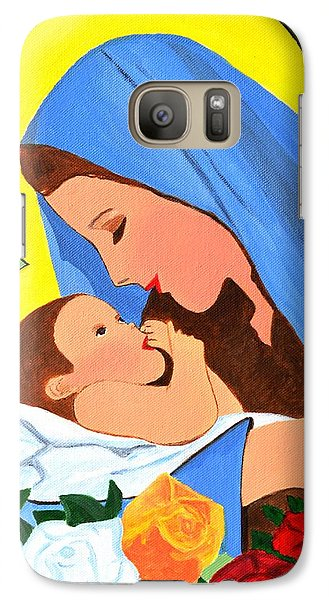 Galaxy Case featuring the painting Maria And Baby Jesus by Magdalena Frohnsdorff