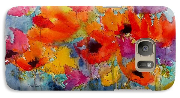 Galaxy Case featuring the painting Marianne's Garden by Anne Duke