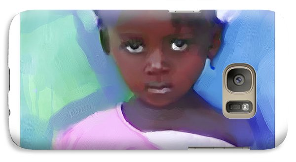 Galaxy Case featuring the painting Marie by Bob Salo