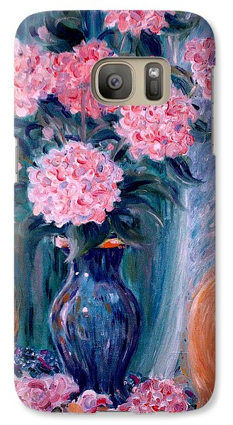Galaxy Case featuring the painting Marigold At The Window by Dee Davis