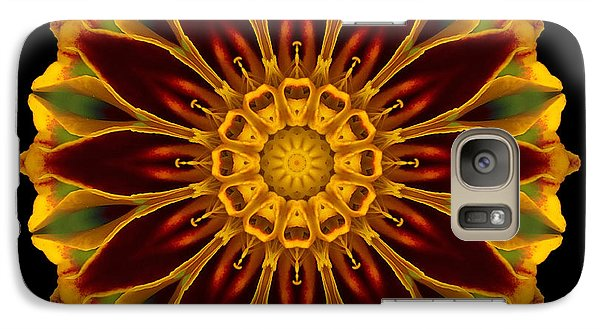 Galaxy Case featuring the photograph Marigold Flower Mandala by David J Bookbinder