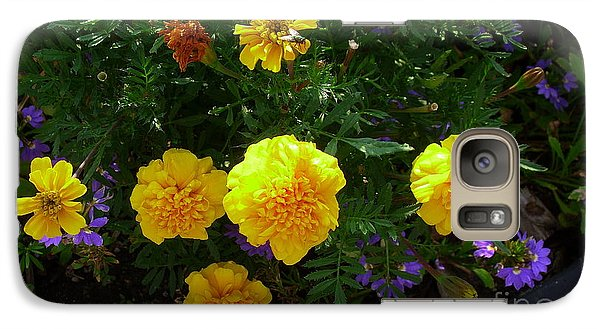 Galaxy Case featuring the photograph Marigolds by Fred Wilson