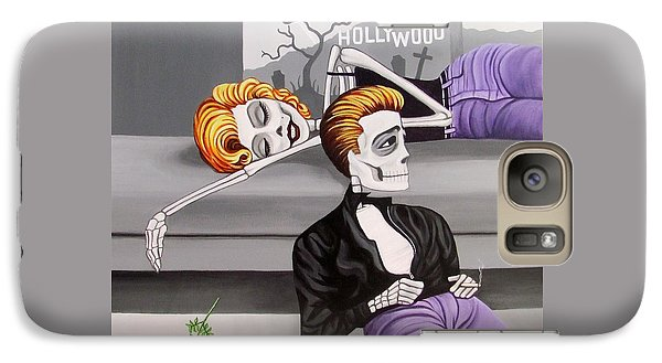 Galaxy Case featuring the painting Marilyn And James by Evangelina Portillo