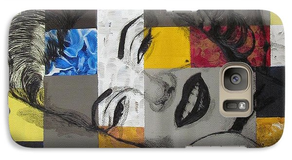 Galaxy Case featuring the painting Marilyn In Abstract by Malinda  Prudhomme