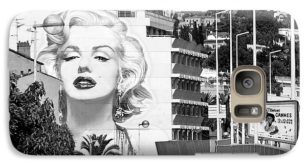 Galaxy Case featuring the photograph Marilyn In Cannes by Jennie Breeze