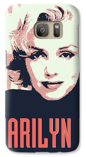 Marilyn M Galaxy S7 Case by Chungkong Art