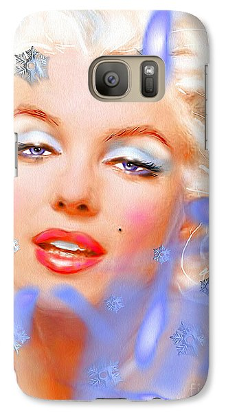 Galaxy Case featuring the painting Marilyn M. by Daniel Janda