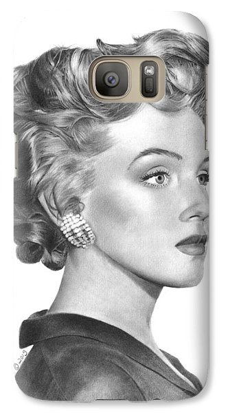 Galaxy Case featuring the drawing Marilyn Monroe - 014 by Abbey Noelle