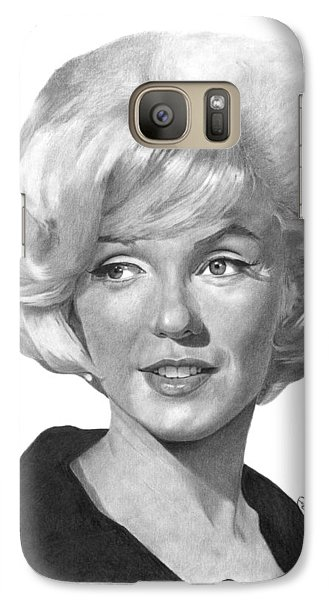 Galaxy Case featuring the drawing Marilyn Monroe - 015 by Abbey Noelle