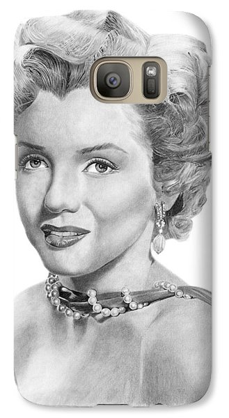 Galaxy Case featuring the drawing Marilyn Monroe - 016 by Abbey Noelle