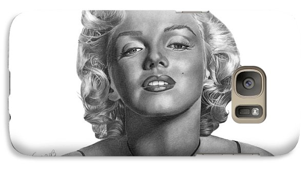 Galaxy Case featuring the drawing Marilyn Monroe - 018 by Abbey Noelle