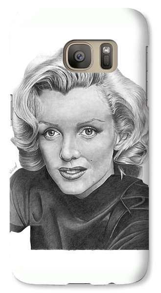 Galaxy Case featuring the drawing Marilyn Monroe - 025 by Abbey Noelle