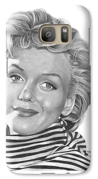 Galaxy Case featuring the drawing Marilyn Monroe - 029 by Abbey Noelle