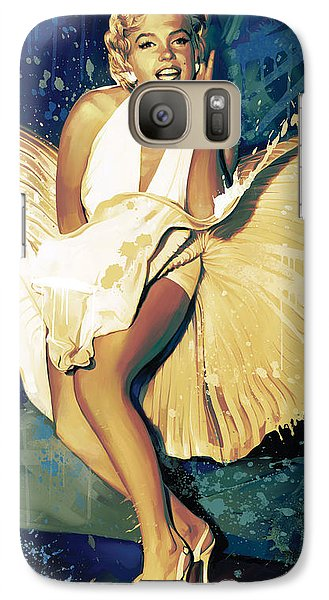 Marilyn Monroe Artwork 4 Galaxy S7 Case by Sheraz A