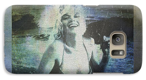 Galaxy Case featuring the digital art Marilyn Monroe At The Beach by Absinthe Art By Michelle LeAnn Scott