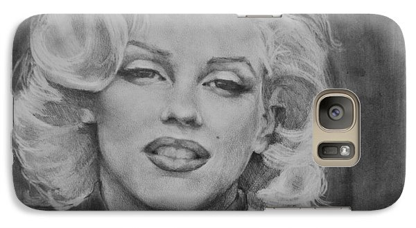 Galaxy Case featuring the painting Marilyn Monroe by Jani Freimann