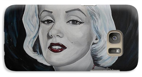 Galaxy Case featuring the painting Marilyn Monroe by Julie Brugh Riffey