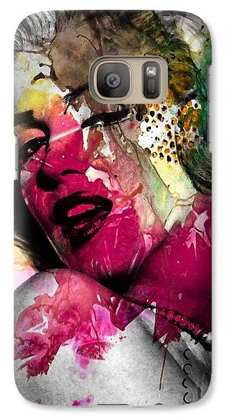 Marilyn Monroe Galaxy Case by Mark Ashkenazi