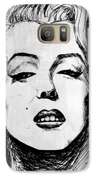 Galaxy Case featuring the painting Marilyn Monroe by Salman Ravish