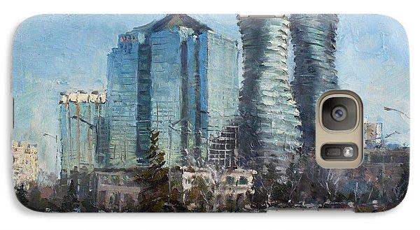 Marilyn Monroe Towers Galaxy Case by Ylli Haruni
