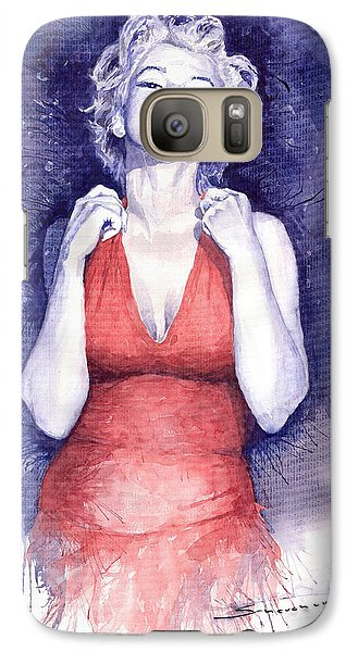Marilyn Monroe Galaxy S7 Case by Yuriy  Shevchuk