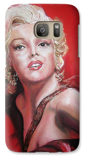 Galaxy Case featuring the pastel Marilyn by Peter Suhocke