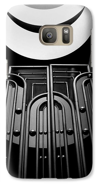 Galaxy Case featuring the photograph Marin County Government Complex Gate by Jeff Brunton