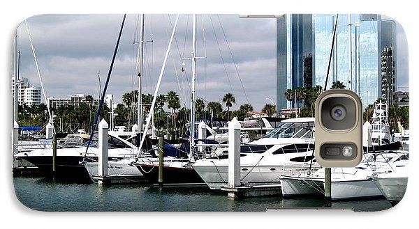 Galaxy Case featuring the photograph Marina In Sarasota by Oksana Semenchenko