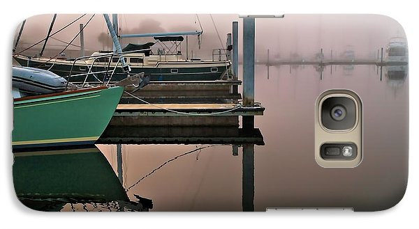 Galaxy Case featuring the photograph Marina Morning by Laura Ragland