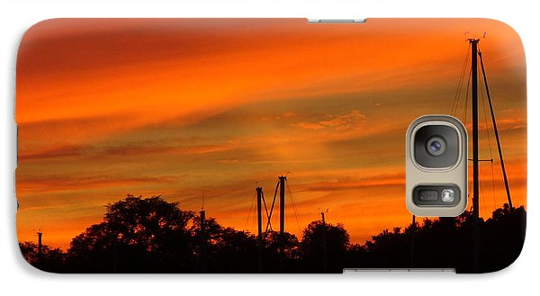 Galaxy Case featuring the photograph Marina Sunset by Deena Stoddard