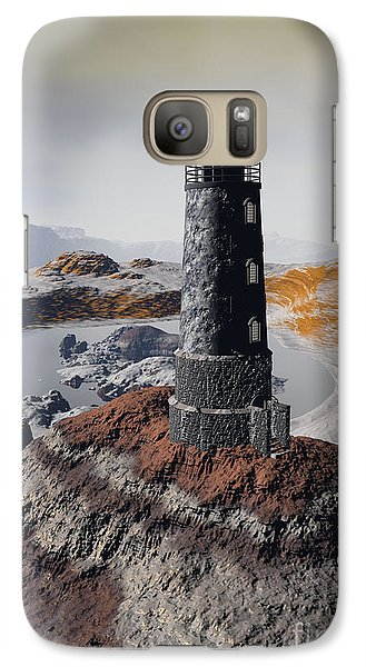 Galaxy Case featuring the digital art Marine Memory - Surrealism by Sipo Liimatainen