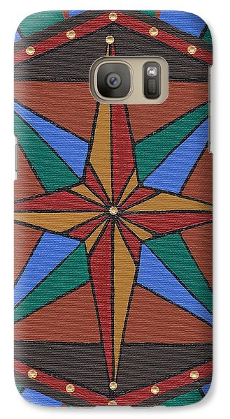 Galaxy Case featuring the painting Mariner Rose by Barbara St Jean