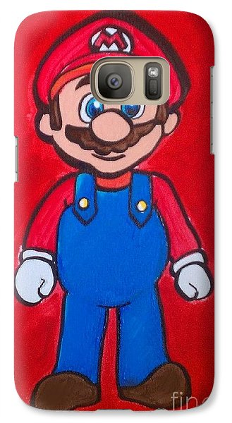 Galaxy Case featuring the painting Mario by Marisela Mungia