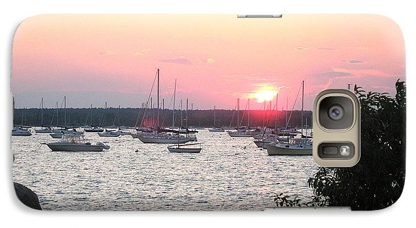Galaxy Case featuring the photograph Marion Massachusetts Bay by Kathy Barney
