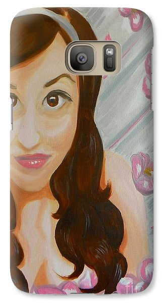 Galaxy Case featuring the painting Marisela by Marisela Mungia