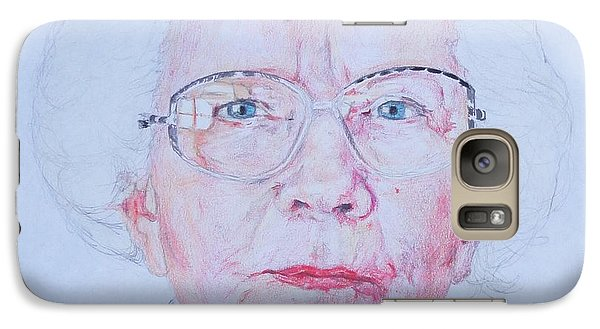 Galaxy Case featuring the drawing Marjorie's Portrait by PainterArtist FINs husband Maestro