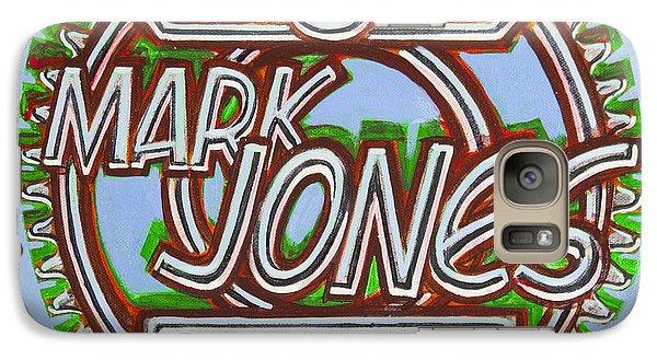 Galaxy Case featuring the painting Mark Jones Velo Art Painting Blue by Mark Howard Jones