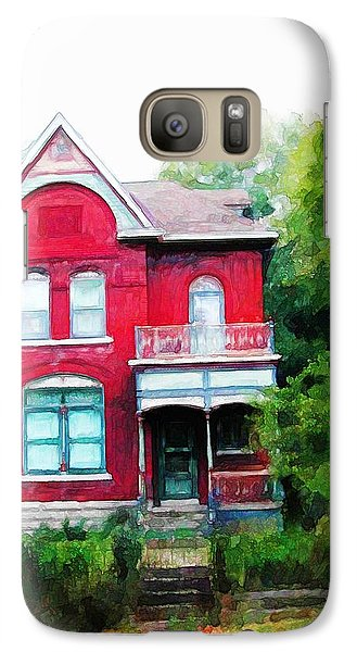 Galaxy Case featuring the painting Market Street by Dave Luebbert