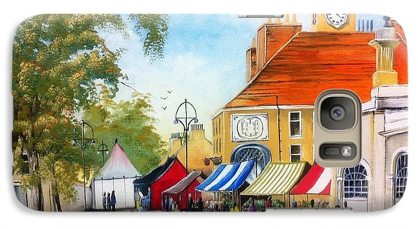 Galaxy Case featuring the painting Markets On High Street by Helen Syron